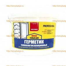 Герметик строительный «NEOMID ТЕПЛЫЙ ДОМ WOOD Professional» 15кг